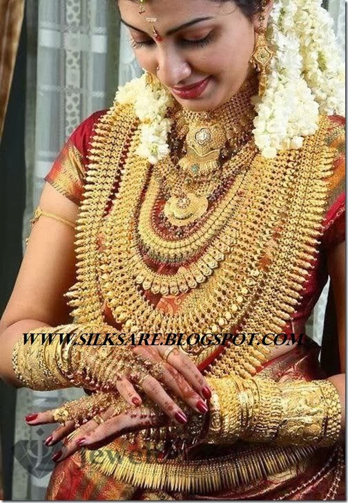 Latest Indian Wedding Silk Saree Jewellery Wedding Hair