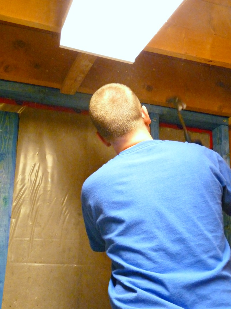 Basement update how to paint drop ceilings you cannot remove so thats my quick tip for painting ceiling tiles that you cannot remove dailygadgetfo Choice Image