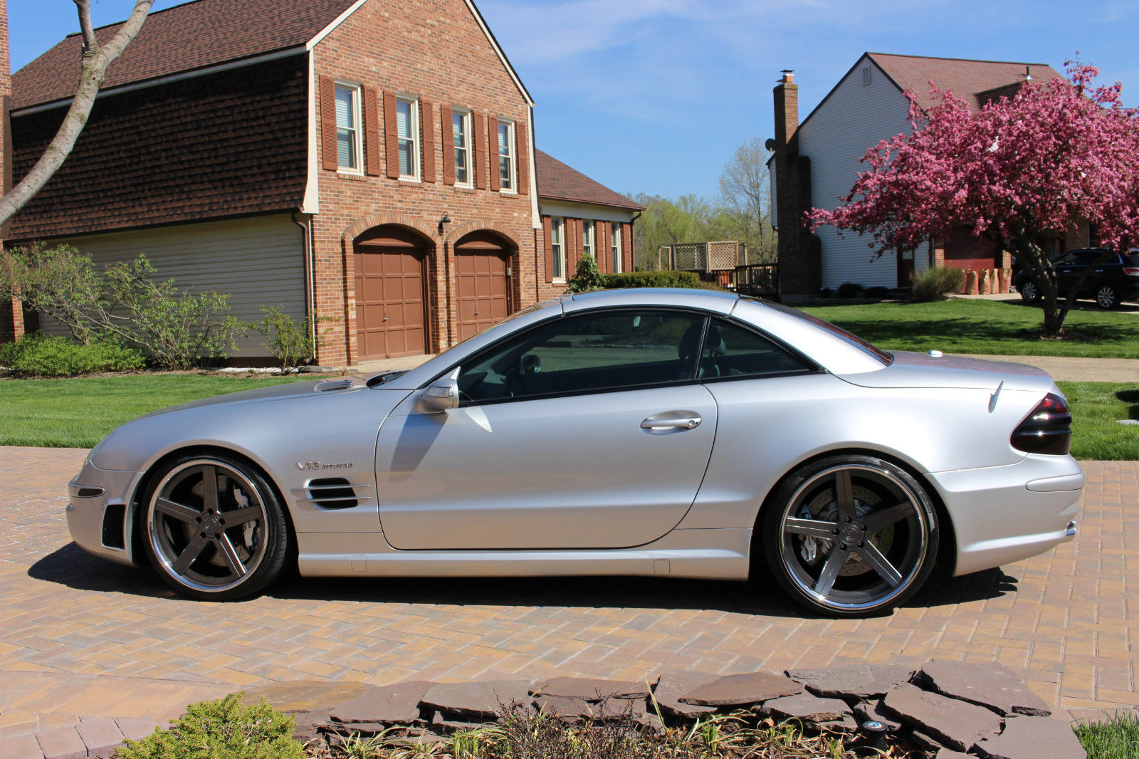 2005 mercedes benz r230 sl65 amg on 20 d2 forged wheels benztuning. Black Bedroom Furniture Sets. Home Design Ideas