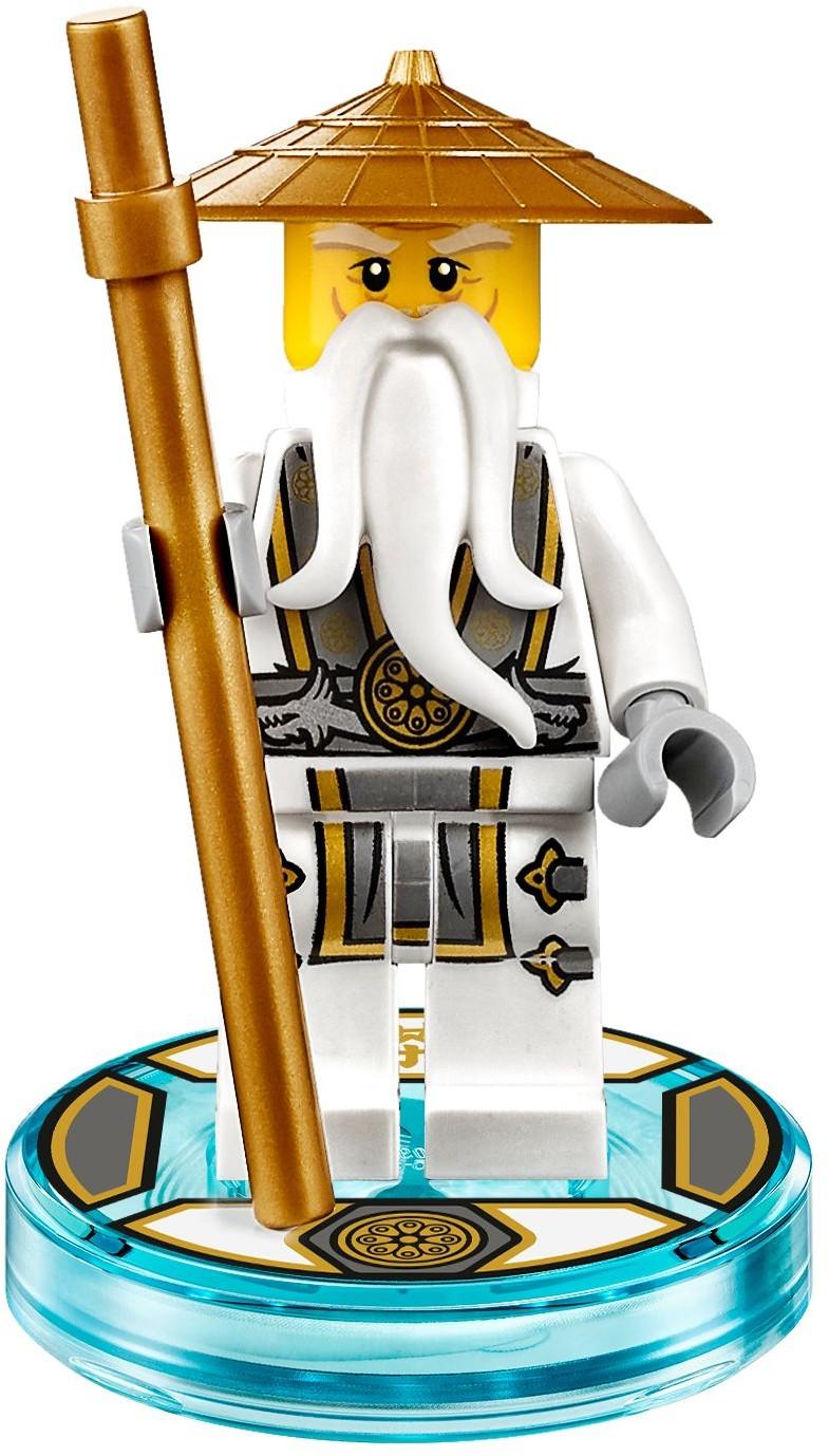 Lego njo142 ninjago master sensei wu minifigure w staff - Sensei ninjago ...