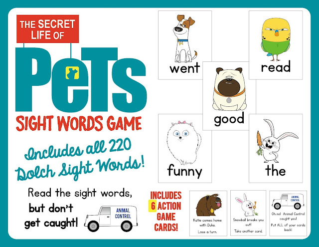 https://www.teacherspayteachers.com/Product/The-Secret-Life-of-Pets-Sight-Words-Game-Contains-all-220-Dolch-Sight-Words-2624264