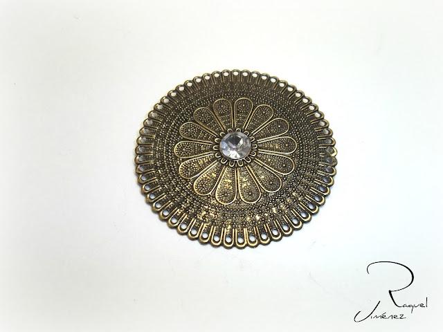 broche oro viejo escudo