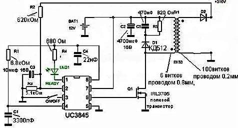 Tool Electric: Простой преобразователь 12 310 вольт 100