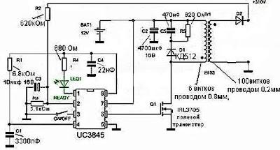 Einfache Inverter 12/310 Volt