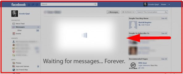 Why can't I see my messages on facebook