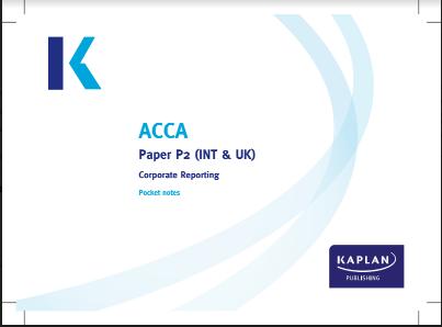 ACCA P2 Kaplan Pocket Notes 2016 | FREE ACCOUNTING B00KS