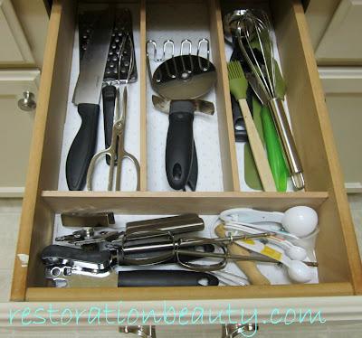 diy drawer organizing