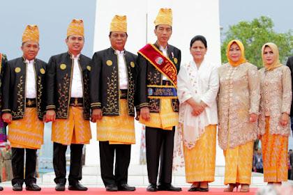 Presiden Jokowi Meninggalkan Batulicin