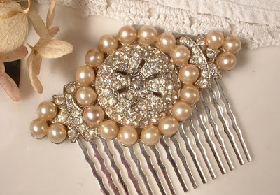 weddings the joys and jitters wedding accessories vintage bridal hair bs