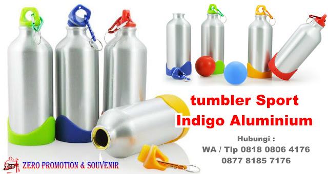 indigo aluminium bottle - Jual Suvenir Tumbler Murah Chielo di Tangerang, Stainless & Aluminium : Sport Botol INDIGO, botol tempat minum Tumbler Indigo Aluminium Bottle, Botol Alumunium, Barang Promosi Drink Ware Indigo Aluminium Bottle