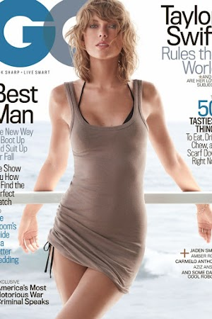 Taylor Swift poses on the cover of magazine