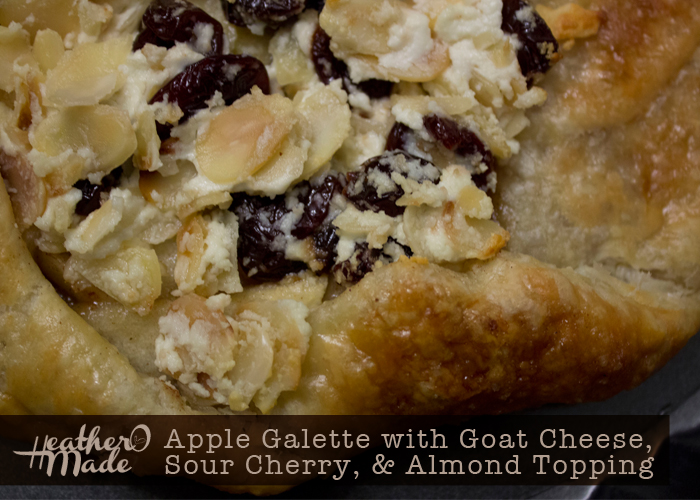 Apple Galette with Goat Cheese, Sour Cherry,  Almond Topping recipe