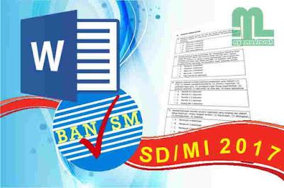 Instrumen Akreditasi SD/MI 2017 Format Word
