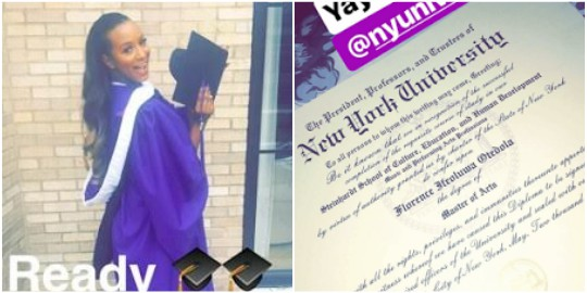 Otedola's Daughter, DJ Cuppy Finally Receives Her Masters Of Art Certificate From NY University