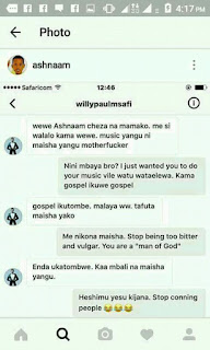 What willy paul do to his fans on social media.