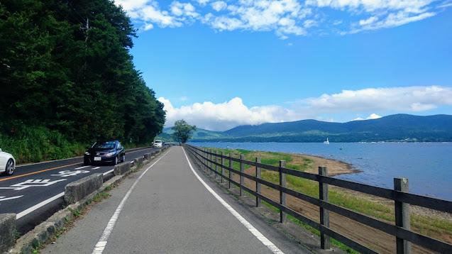 大月から富士みちを通って山中湖まで上り道志みちで相模湖まで下るサイクリングコース
