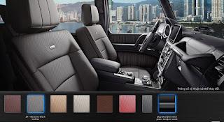 Nội thất Mercedes AMG G63 2018 màu Đen Leather ZF7
