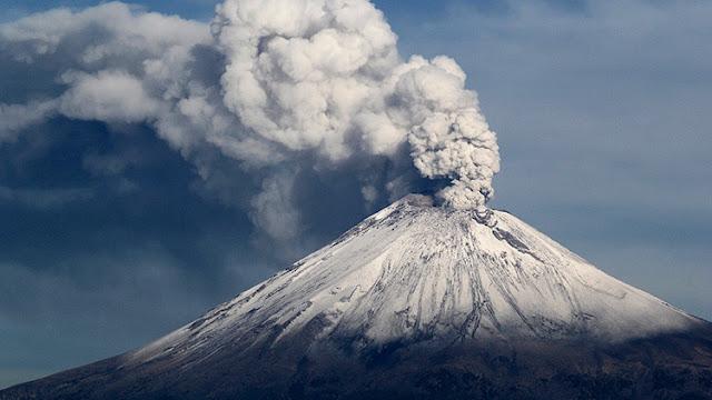 El volcán Popocatépetl en México, el 9 de julio de 2013.