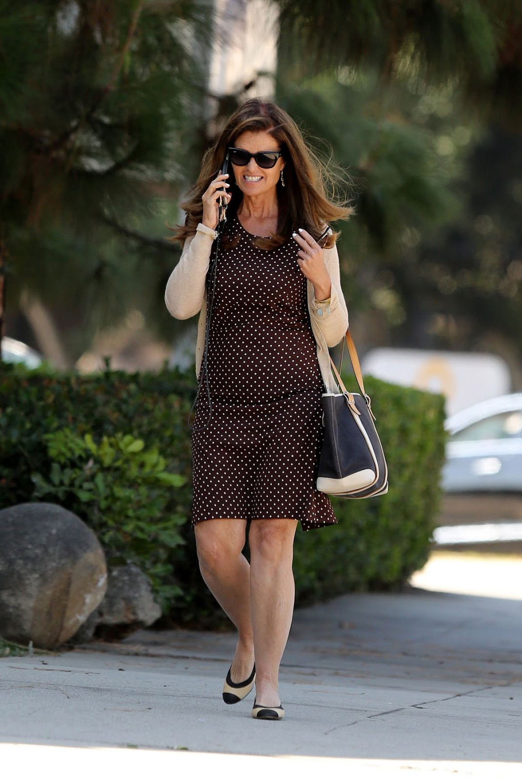 Maria Shriver Out And About In Brentwood