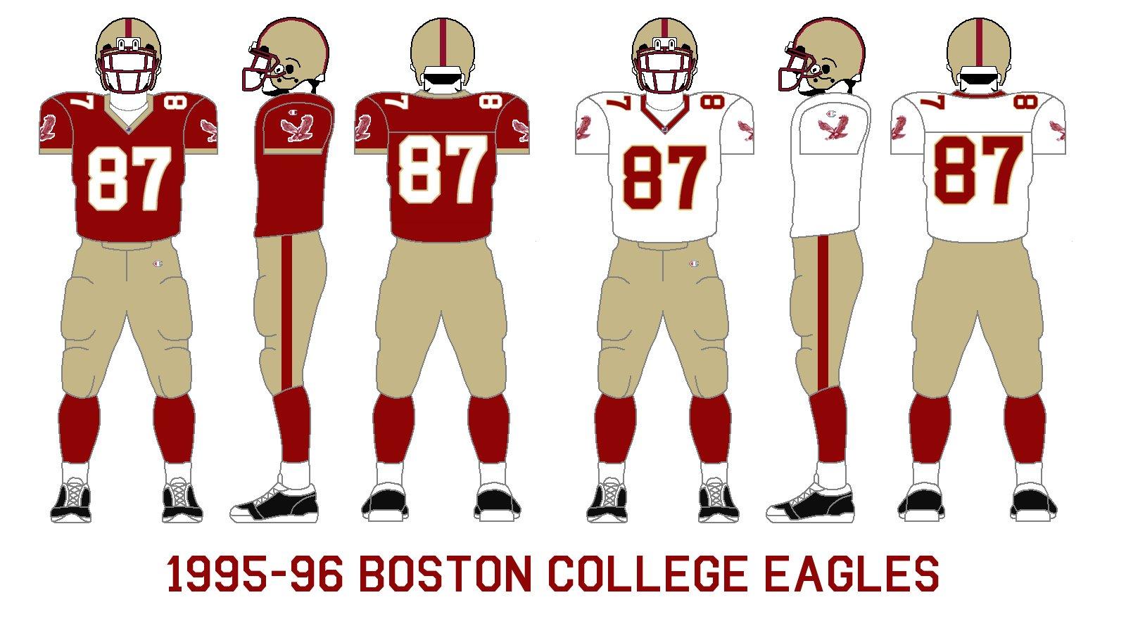quality design ed4ae c0bfc Gridiron Garb: Boston College Eagles (1995-96)