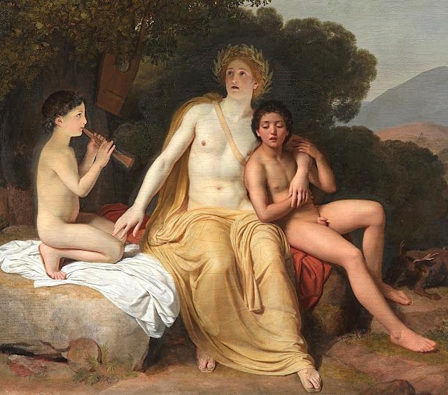 Aleksandr Andreevic Ivanov: Apollo, Giacinto e Ciparisso suonano e cantano