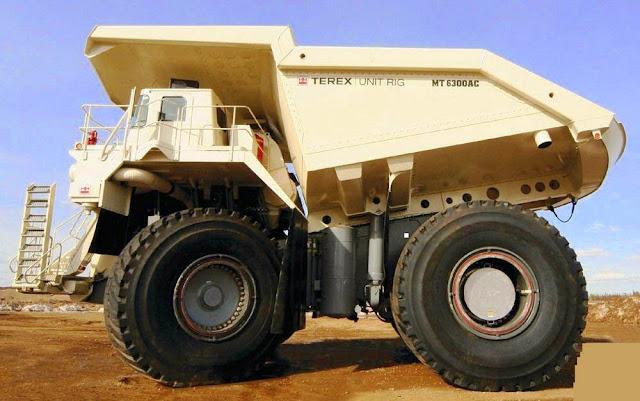 Terex MT 6300AC Mining Truck - maiores caminhões de mineração do mundo