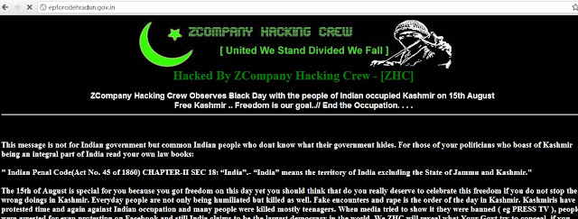 100's of Indian Government, Education and Corporate websites Hacked By ZCompany Hacking Crew