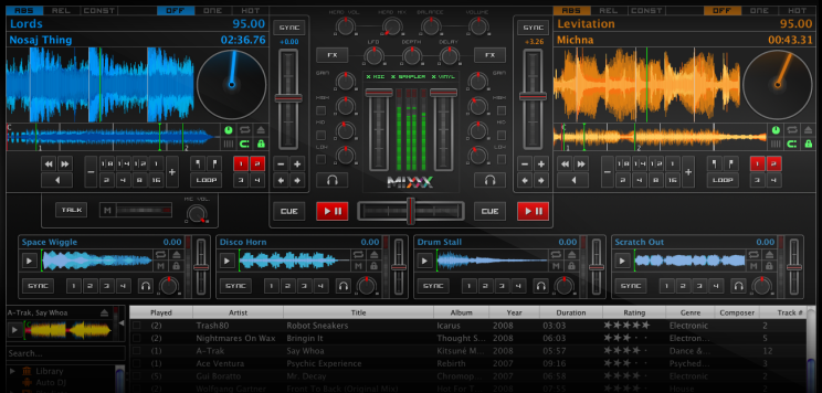 MIXXX professional DJing software for Linux