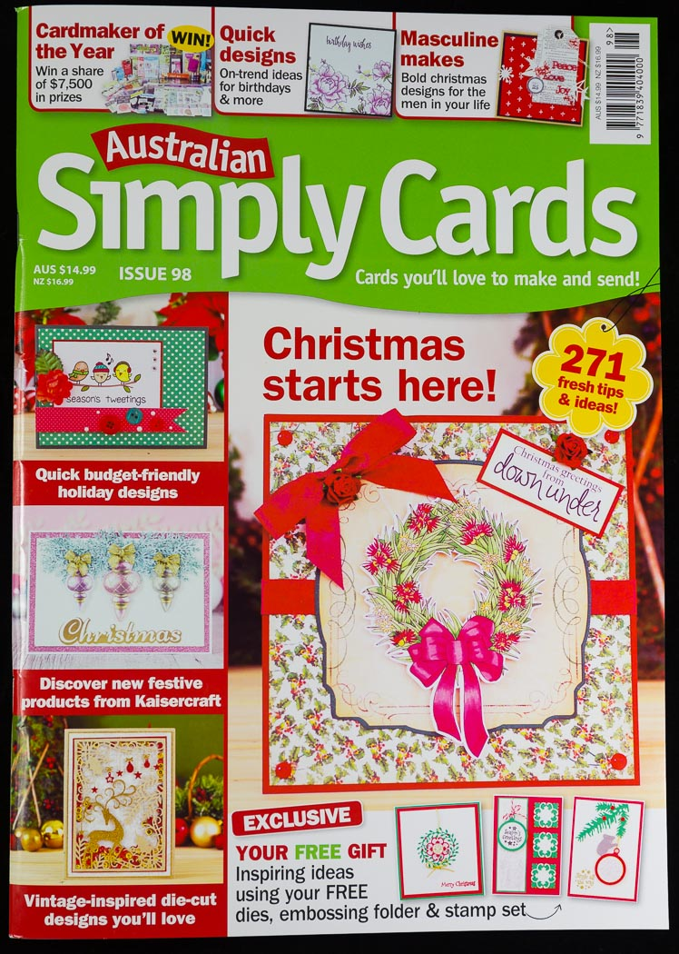 I was published - Australian Simply Cards
