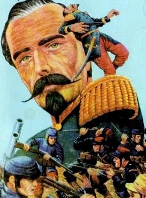 Ilustración de Francisco Bolognesi, quien comandó la Batalla de Arica