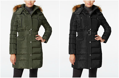 Tommy Hilfiger Faux-Fur Trim Puffer Coat $56 (reg $245)