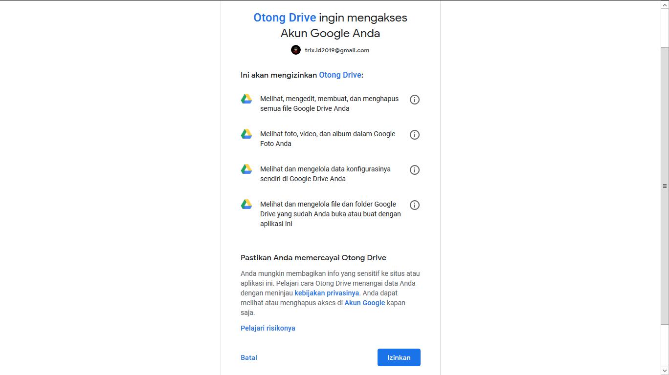 Cara Download File Dari Google Drive Quota Exeeded Via Otong Drive