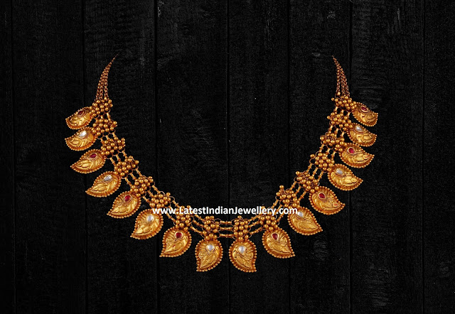 Mango Motif Gold Necklace