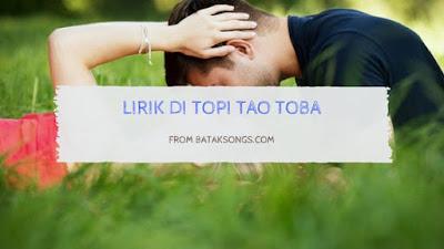 Lirik Di Topi Tao Toba