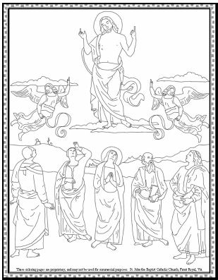 coloring pages ascension of jesus - photo#23
