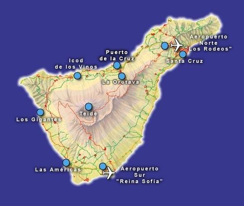 Cartina Spagna Tenerife.Il Cielo E Sempre Piu Blu Tenerife Canarie Spagna Itinerario Per 1 Settimana