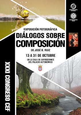 Cartel 'Diálogos sobre composición' de José Benito Ruiz
