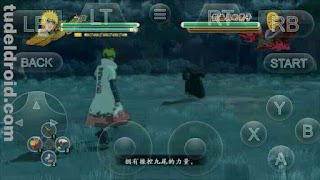Bermain Game Naruto Shippuden: Ultimate Ninja Strom 3 di Android