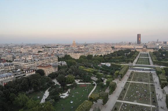 Vista panorámica de París desde la Torre Eiffel