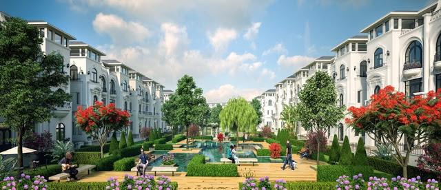 Biệt thự Louis City với khuôn viên xanh rộng lớn