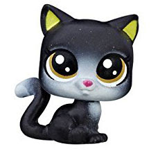 Littlest Pet Shop Series 1 Teensie Special Collection Boots Blackcat (#1-23) Pet