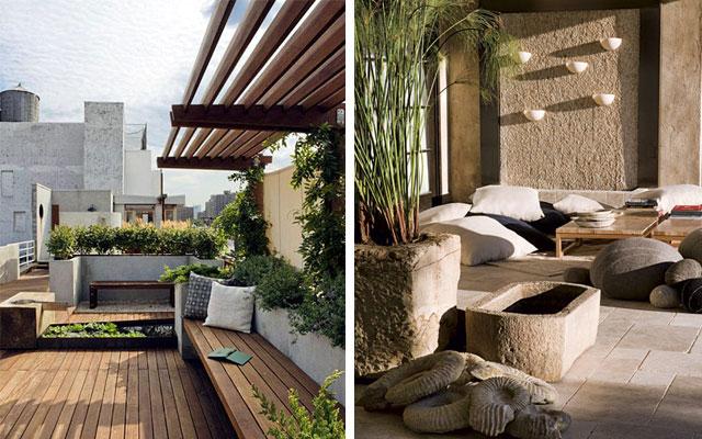 Marzua c mo decorar terrazas amplias y porches - Ideas para cerrar una terraza ...