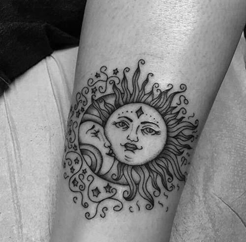 güneş dövmeleri sun tattoos 10
