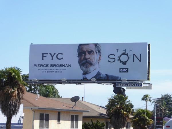 The Son Pierce Brosnan 2017 Emmy billboard