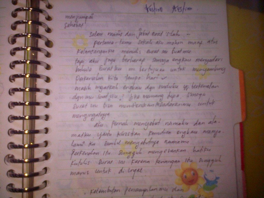 Contoh Surat Cinta Romantis Bahasa Sunda