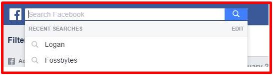 Delete Facebook Search