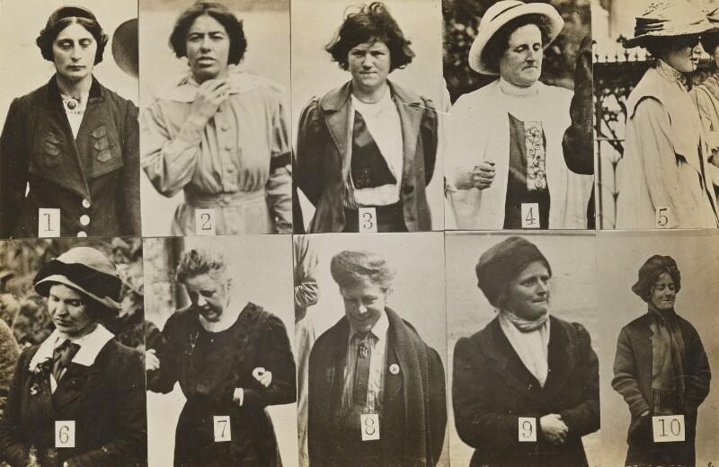 Spy Photographs of Militant Suffragettes 1913  vintage