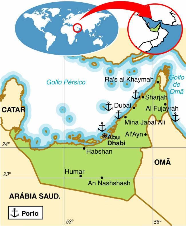 EMIRADOS ÁRABES UNIDOS, ASPECTOS GEOGRÁFICOS E SOCIOECONÔMICOS DOS EMIRADOS ÁRABES UNIDOS