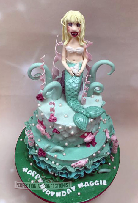 The Perfectionist Confectionist Maggie Mermaid Birthday Cake