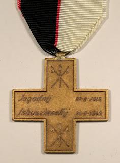Medaglia  Croce commemorativa della battaglia di Isbuschenskij e Jagodnji